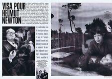 Coupure de presse Clipping 1999 Helmut Newton (2 p) Mike Jgger Jerry Hall Le Pen