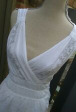 Dkny jeans soft 100%cotton white summer dress S
