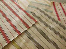 C1 lot 7 petits coupons style toile à matelas rayure patchwork 20 cm sur 24 cm