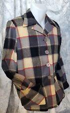 Medium VTG Kasual Koat Wool 49er Jacket Womens Plaid Hepburn Button
