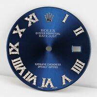 Diamond Roman Numeral Blue Dial for Rolex Datejust II 41mm 116300 & 116334