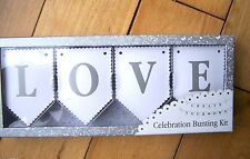 talking tables white wedding party celebration love bunting sign create your own