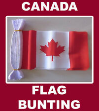 Canada Flag Bunting 20 Polyester Canadian Flags AUSPOST REGISTERED TRACKING