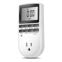 Timer Switch Socket Electronic Digital US Plug-in Programmable 7 Day 120V 15A