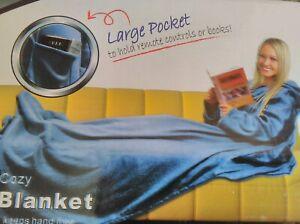 SLEEVED PINK SNUGGIE FLEECE BLANKET SUPER SOFT