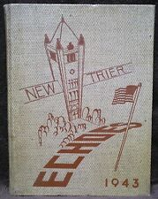 1943 ECHOES Yearbook NEW TRIER High School Winnetka Illinois Annual ROCK HUDSON