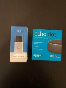 Ring Doorbell & Echo Dot 3rd Gen Bundle