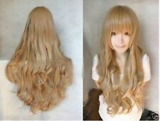 Hot wig Cosplay Aisaka Taiga /Junior League PaleGolden Brown Curly Long wig