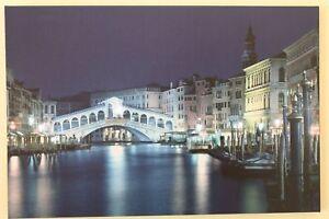 LED Light Up Venice Skyline Realto Bridge Canvas Picture Wall Hanging Art ***