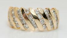 14K Yellow Gold .50 + TCW Diamond Cocktail Ring  1/2 Carat +