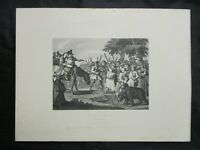 1800s Engraving Etching - Hudibras First Adventure by William Hogarth