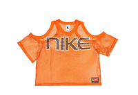 NIKE LAB COLLECTION MESH TOP AV8289 819 WOMENS SIZE M Orange