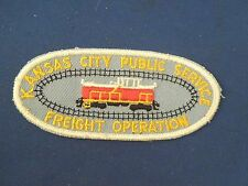Vintage Kansas City Public Service Freight Operation Railway Train Sew On Patch