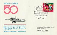 Flugpostverbindung Nürnberg-Zürich-Genf 1.6.1972 AD Astra-Lufthansa/Swissair