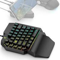 K15 One-handed Membrane Keyboard 39 Keys Backlit one-Hand New Keypad Gaming H1Z9