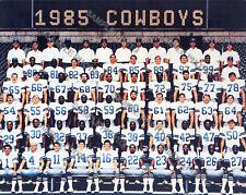 1985 DALLAS COWBOYS FOOTBALL TEAM 8X10 PHOTO
