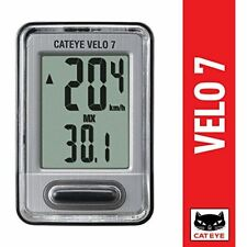 Brand New CATEYE CC-VL520 Velo7 Wired Cycling Computer, Auto Start, Speed Sensor