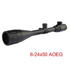 Hunting 6-24x50mm AOEG Rifle Scope Sight Red/Green illuminated Rifescope