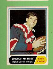 #D311. 1969  SCANLENS RUGBY LEAGUE CARD #18 GRAHAM  MAYHEW, EASTERN SUBURBS
