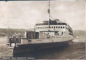 ITALY Messina ferryboat Cariddi RPPC 1940s
