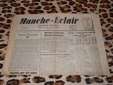 Journal MANCHE-ECLAIR, éd. du Sud de la Manche - n° 23, 08/06/1946