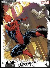 Topps Marvel Collect INKED SUPER RARE TILT; SPIDER-MAN
