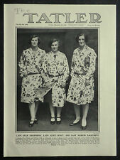 Lady Jean & Marion Dalrymple Lady Alice Scott 1928 Photo Article 6266