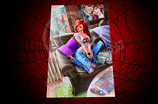 Amazing Spider-man #601 MaryJane MJ Mounted Photo Print 11 x 7 J Scott Campbell