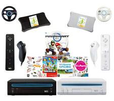Nintendo Wii Konsole Set ORIGINAL Controller Remote (Schwarz/Weiß) Mario Kart