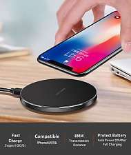 Qi Wireless Pad Dock Fast Charger For Samsung Galaxy S8 S9 Note9 iPhone XS X 8