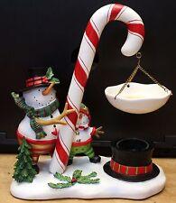 Yankee Candle Tart Burner Holder Snowman Large Candy Cane Winter Christmas