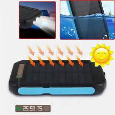 6000mAh Waterproof Solar Battery Charger Power Bank LED light Strobe Alarm SOS