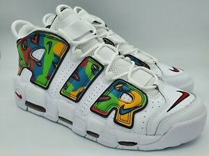 Nike Air More Uptempo Peace Love Basketball Sneakers Shoes DM8150-100 Size 11.5