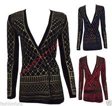 Button V-Neckline Unbranded Coats & Jackets for Women