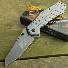 MTech Extreme Ballistic 440C Dark Gray Assisted Open Framelock Knife 837GY
