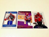 Shaquille O'Neal Lot of 3 Panini/Bowman Game Worn Jersey #/199/249/#12 Div.Teams