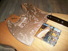 Tele Pickguard - Custom - Gold - Etched - 8 Hole - 1 Ply