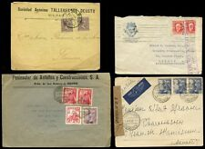 SPAIN 1910-1949 COVERS + CENSORS...4 ITEMS
