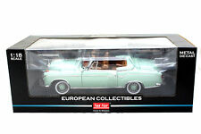 SUNSTAR 1958 MERCEDES 220SE OPEN CONVERTIBLE GREEN 1/18 DIECAST CAR