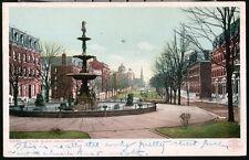 BALTIMORE MD Eutaw Place Centennial Fountain Antique City Park Postcard Vtg PC