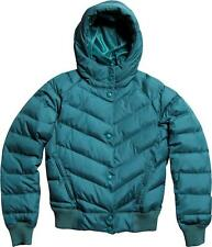 Women's Fox Racing Sallye Puffy Puffer Puff Hooded Jacket Emerald Green Size M
