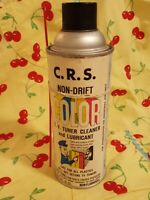 vintage CRS color TV Tuner cleaner Lubricant, can empty metal 16 oz can