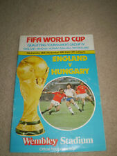 FIFA World Cup Qualifying Match programme England v Hungary 1981