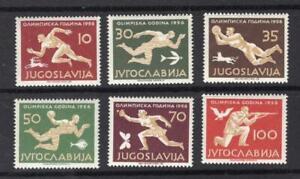 Yugoslavia 1956 Partial Olympics Set - OG MNH - SC# 461, 464-468  No Reserve!