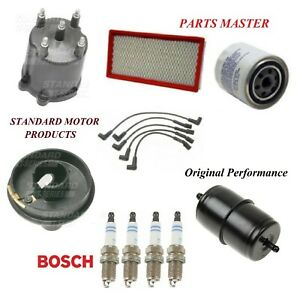Tune Up Kit Filters Cap Rotor Wire Plugs For JEEP COMANCHE L4 2.5L 1987-1990
