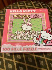 NIB Hello Kitty Happy Easter 100 piece puzzle