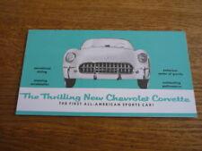 CHEVROLET CORVETTE 1953/54 BROCHURE REPRINT