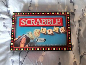 Vintage Scrabble Dice Spears Games 1988 Complete
