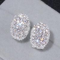 Classique Design romantique bijoux 2019 cristal argent boucles d'oreilles