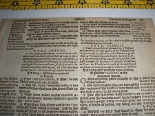 Very Rare ORIGINAL 1586 GENEVA Bible Leaf JEHOVAH Ps 83:18  Watchtower research
